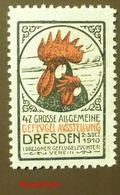 Werbemarke Cinderella Poster Stamp Dresden Geflügel Ausstellung 1910  #128 - Vignetten (Erinnophilie)
