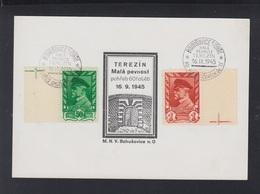 Czechoslovakia PC 1945 Terezin - Briefe U. Dokumente