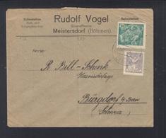 Czechoslovakia Cover 1920 Meisterdorf - Czechoslovakia