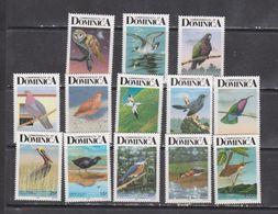 Dominica 1989 Birds Set Of 13v  MNH - Sin Clasificación