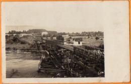 PONT DE CHEMIN DE FER RECONSTRUIT PAR LES ALLEMANDS  -  Août 1917 - Weltkrieg 1914-18