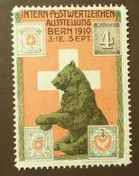 Werbemarke Cinderella Poster Stamp  Postwertzeichen Ausstellung Bern 1910  #42 - Vignetten (Erinnophilie)