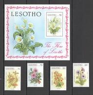 X937 1987 LESOTHO NATURE FLORA FLOWERS #640-43 MICHEL 10,5 EURO SET+BL MNH - Vegetales