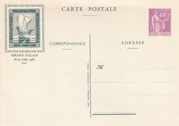 Carte Postale Entier Au Type Paix 40 Centimes Logo Vert Pexip 1937 Neuf - Ganzsachen