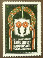 Werbemarke Cinderella Poster Stamp Sängerfest Papperswil  1913  #9 - Cinderellas