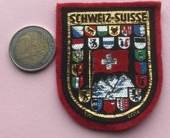 (6) Blazoenen - Emblemen - Schweiz - Suisse - Textiel - Blazoenen (textiel)
