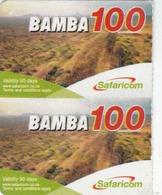 KENYA - BAMBA 100 Mountain View (Half Size), Safaricom Card , Expiry Date:22/05/2014, Used - Kenya