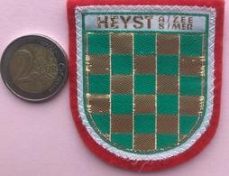 (7) Blazoenen - Emblemen - Heyst A/Zee  S/Mer - Textiel - Ecussons Tissu