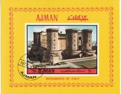 Bf. 410B  Ajman 1972 Italy Turismo Napoli Maschio Angioino  Anjou's Castle  Imperf. Preoblit. - Ajman