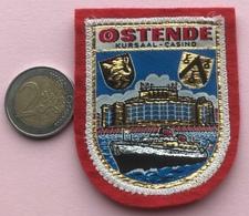 (8) Blazoenen - Emblemen - Ostende  Kursaal - Casino - Textiel - Blazoenen (textiel)