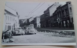 Skoda Wartburg Old Cars City Street Vieilles Voitures Rue De La Ville Hungary Hongrie - Auto's