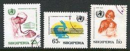 ALBANIA 1968 World Health Organisation  Used. Michel 1266-68 - Albanie