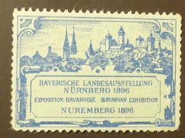 Werbemarke Cinderella Poster Stamp  Bayern Landesausstellung Nürnberg 1896 #180-blau - Vignetten (Erinnophilie)