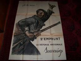 """Affiche Ancienne Guerre De 1914/18 .."""" ON LES AURA !  ..SOUSCRIVEZ  """" .. 114x81 ..en Tbe... - Documentos"""