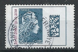 FRANCIA 2018 - Marianne Datamatrix Europe Surchargées - Cachet Rond - Gebraucht