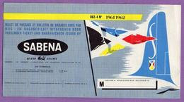 Belgique Billet De Passage Et Bulletin De Bagage Sabena Compagnie Aerienne Belge Air Terminus Bruxelles - Avion - - Billets D'embarquement D'avion