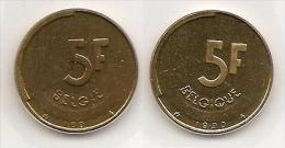5 Frank 1990 Frans+vlaams * Uit Muntenset * FDC - 1951-1993: Baudouin I