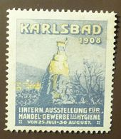 Werbemarke Cinderella Poster Stamp Gewerbe Hygiene Ausstellung Karlsbad 1908    #172 - Vignetten (Erinnophilie)