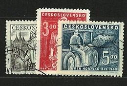 CSSR 1949 Michel: 594-596 Used - Czechoslovakia