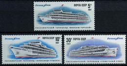 USSR Russia 1987 Passenger Ships Maxim Gorki Alexander Pushkin Transport Ship Holiday Tourism Stamps MNH - Other