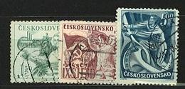 CSSR 1949 Michel: 575-577 Used - Czechoslovakia