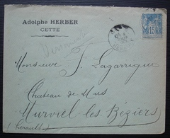 Cette 1901 ? Adolphe Herber Cachet à Date Avec 3 Chiffres ? - Storia Postale