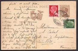F5517  - CARTOLINA POSTALE REGNO PER ESTERO - 1900-44 Victor Emmanuel III