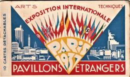 Rare Carnet De 10 Cpa L'exposition Internationale De Paris 1937 Les Pavillons étrangers - Exposiciones
