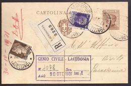 F5518  - CARTOLINA POSTALE REGNO RACOMANDATA - 1900-44 Victor Emmanuel III