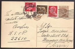 F5521  - CARTOLINA POSTALE REGNO PER ESTERO - 1900-44 Victor Emmanuel III
