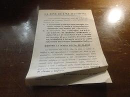BAGHERIA-  LA FINE DI UN ILLUSIONE - P.C.I.- CONTRO LA MAFIA LOTTA DI CLASSE- - Documenti Storici