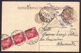F5522  - CARTOLINA POSTALE REGNO RACOMANDATA - 1900-44 Victor Emmanuel III