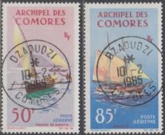 Comores (Archipel Des) - Poste Aérienne N° 10 & 11 (YT) N° 10 & 11 (AM) Oblitérés De D'Zaoudzi. - Posta Aerea