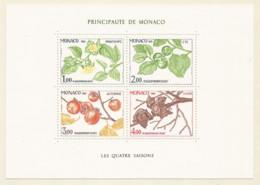 Monaco 1981 Year., S/S Block Mint MNH (**) - Plant - Blocs