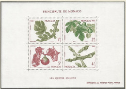 Monaco 1983 Year, S/S Block Mint MNH (**) - Plant - Blocs
