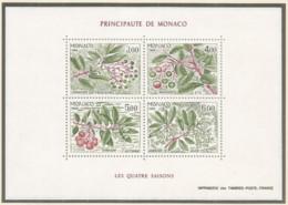 Monaco 1986 Year , S/S Block Mint MNH (**) - Plant - Blocs