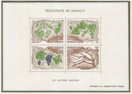 Monaco 1987 Year, S/S Block Mint MNH (**) - Plant - Blocs