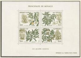 Monaco 1988 Year, S/S Block Mint MNH (**) - Plant - Blocs