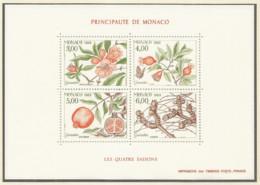 Monaco 1989 Year, S/S Block Mint MNH (**) - Plant - Blocs