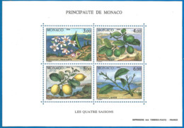 Monaco 1990 Year, S/S Block Mint MNH (**) - Plant - Blocs