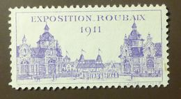Werbemarke Cinderella Poster Stamp Exposition La France Roubaix 1911  #318 - Vignetten (Erinnophilie)