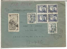 MADRID CC CERTIFICADA USA IMPRESOS CERTIFICADO SELLOS GOYA VIÑETA MUTUALIDAD CORREOS MAT HEXAGONAL - 1931-50 Cartas