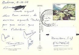 Andorra 1977 Escaldes Farming Landscape EUROPA CEPT Viewcard - 1977
