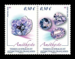 TAAF 2020 Mih. 1068/69 Minerals. Amethyst MNH ** - French Southern And Antarctic Territories (TAAF)