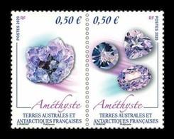 TAAF 2020 Mih. 1068/69 Minerals. Amethyst MNH ** - Terre Australi E Antartiche Francesi (TAAF)