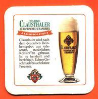 Sous Bock - Coaster Bière Clausthaler Brasserie En Allemagne - Sotto-boccale