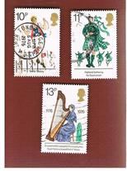 GRAN BRETAGNA (UNITED KINGDOM) -  SG 1011.1013  -  1976  BRITISH CULTURAL  TRADITIONS    - USED° - 1952-.... (Elisabetta II)