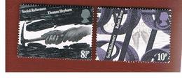 GRAN BRETAGNA (UNITED KINGDOM) -  SG 1001.1003  -  1976  SOCIAL REFORMS   - USED° - 1952-.... (Elisabetta II)