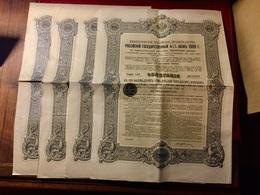 EMPRUNT  De  L' ÉTAT  RUSSE  4 1/2%   1909  --------4  Obligations  De  187,50 Roubles - Russie