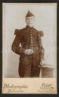 Photo-carte De Visite / CDV / Homme / Man / Militaire / Soldat / Soldier / Photographer Populaire / Liège / 2 Scans - Oud (voor 1900)